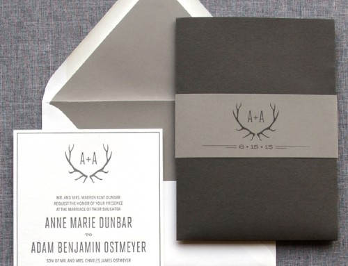 custom antler pocket folder • Anne Marie