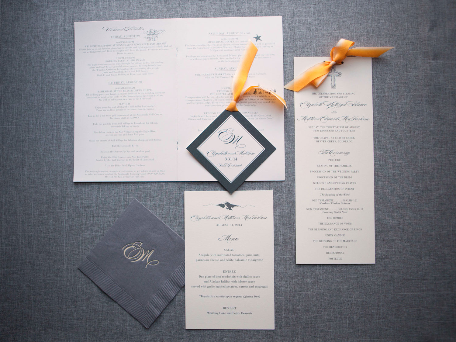 Elizabeth Custom Wedding Invitation