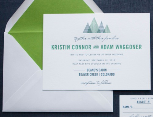custom modern mountain invitation • Kristin