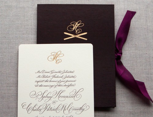 custom silk book invitation • Sydney